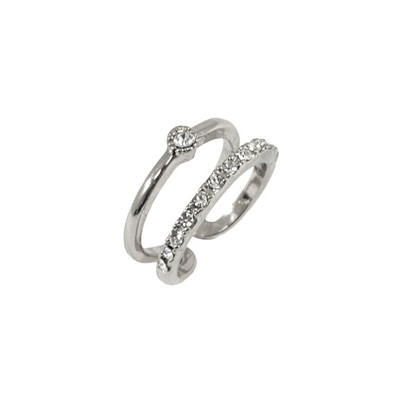 DOUBLE LAYER CRYSTAL RING - product image