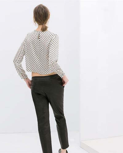 DOTTY PATTERN TOP - product image