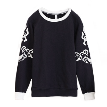 PATTERN SLEEVE JUMPER - product image