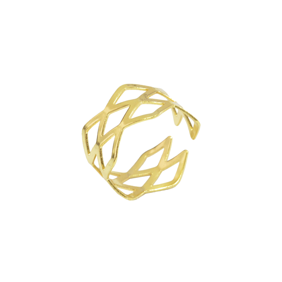 FLORAL GEO RING - product image