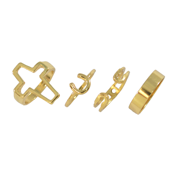 PIN AND CROSS RING SET - product image