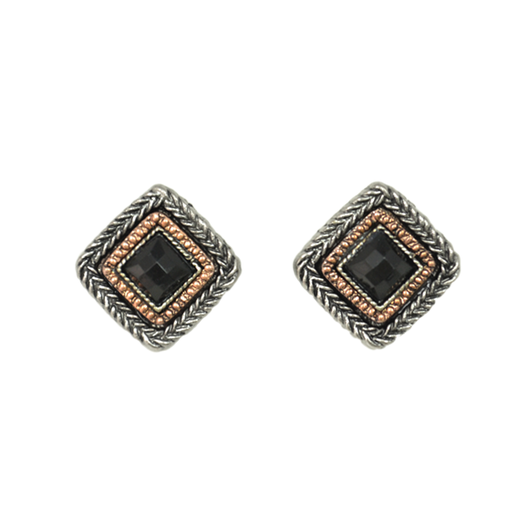 SQUARE CRYSTAL EARRINGS - product image