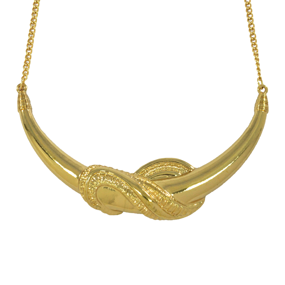 KNOTTED TUSK NECKLACE - product image