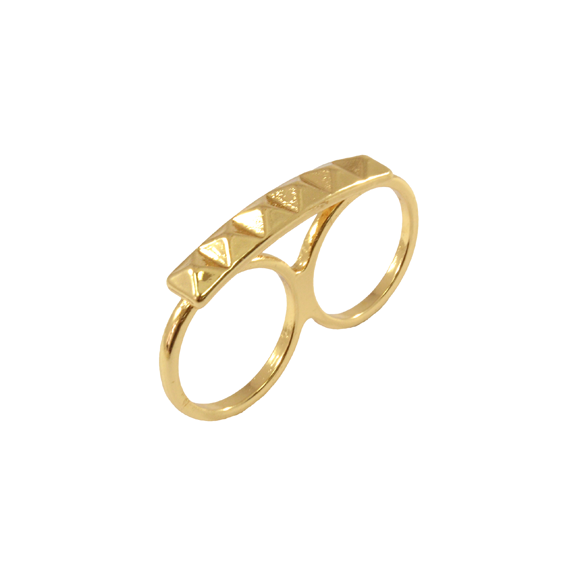 PYRAMID STUD DOUBLE RING - product image