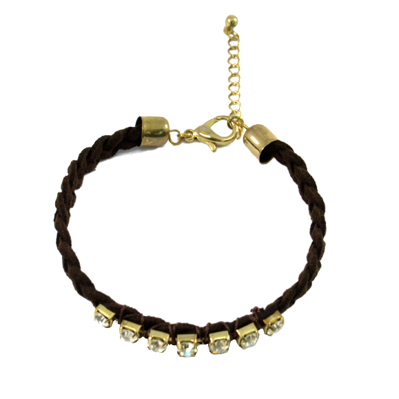 CRYSTAL WITH WOVEN STRAP BRACELET - product image