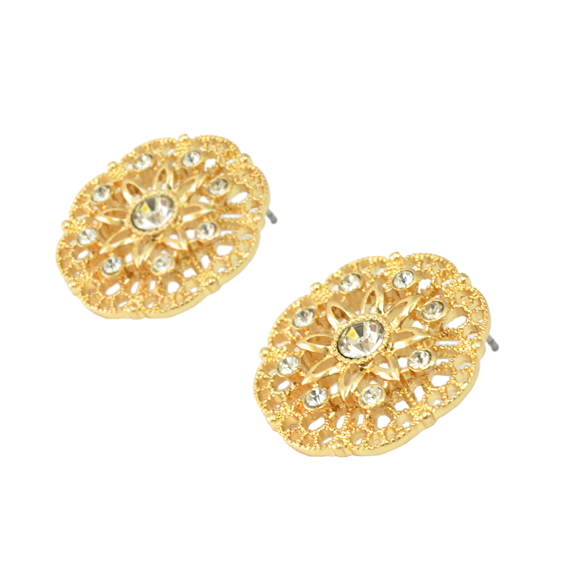 CRYSTAL FLORAL EARRINGS - product image