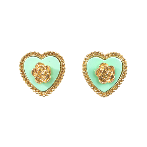 FLOWER,HEART,EARRINGS
