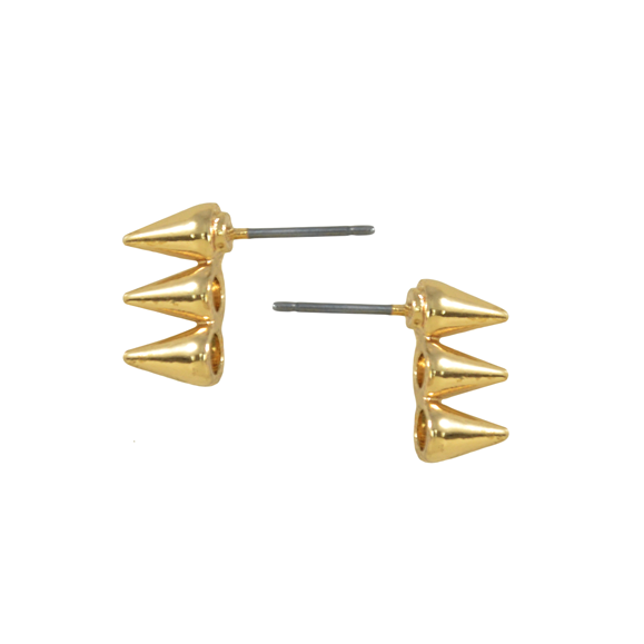 TRIPLE SPIKE EARRINGS - product image