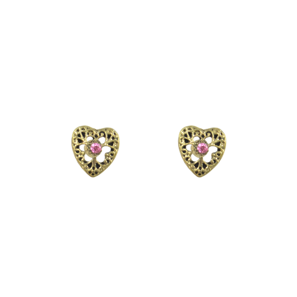 CUTOUT PATTERN HEART EARRINGS - product image