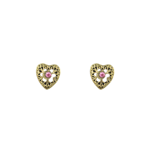 CUTOUT,PATTERN,HEART,EARRINGS