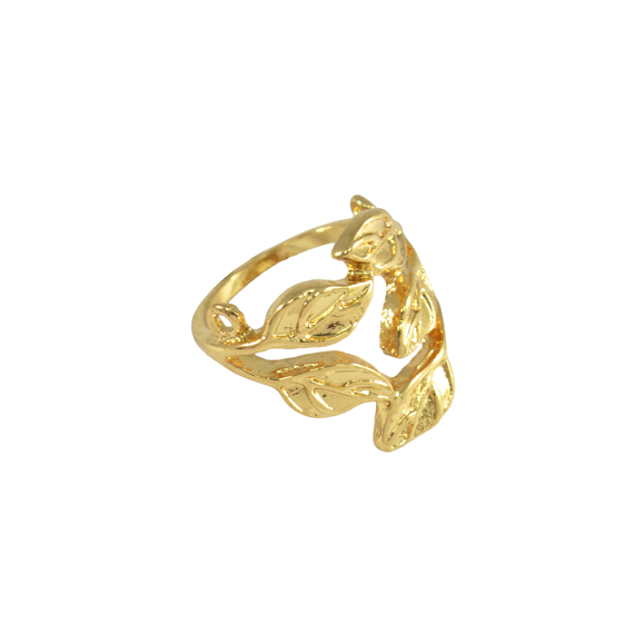 GOLD LEAVES RING - product image