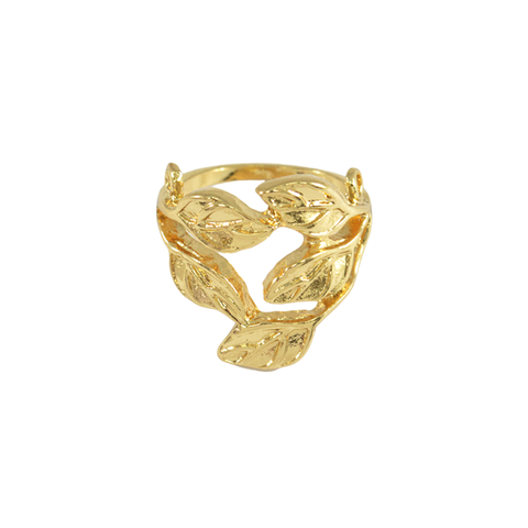 GOLD,LEAVES,RING