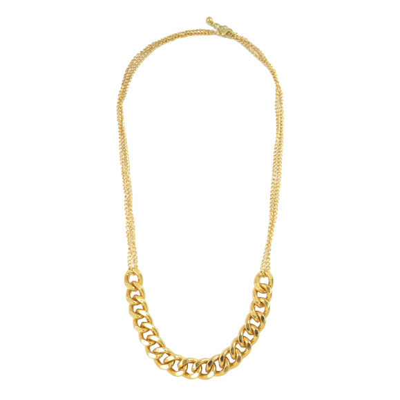 CHUNKY CHAIN BIB NECKLACE - product image