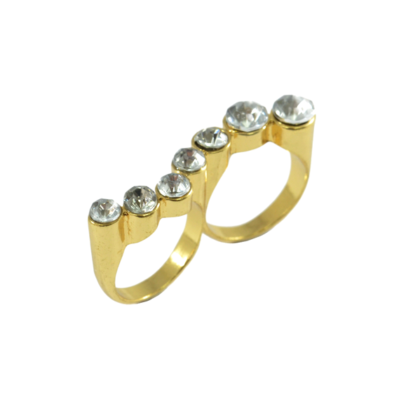 CRYSTAL DOUBLE RING - product image