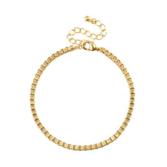 MINIMAL BOX CHAIN BRACELET - product image
