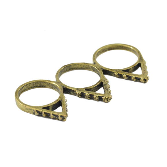 TRIANGLE TRIPLE FINGER RING - product image