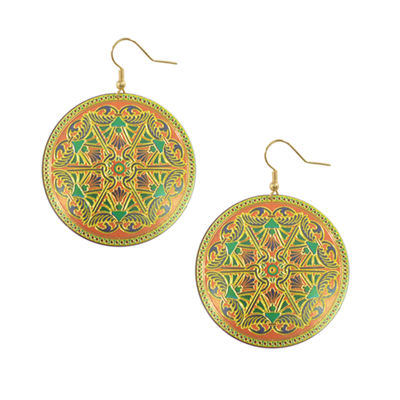 PATTERN COPPER SHEET EARRINGS - product image