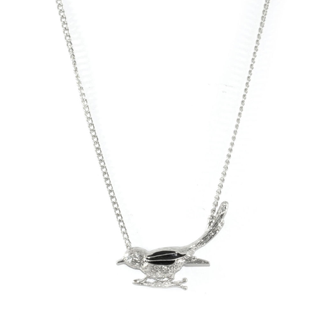 SILVER,BIRD,NECKLACE