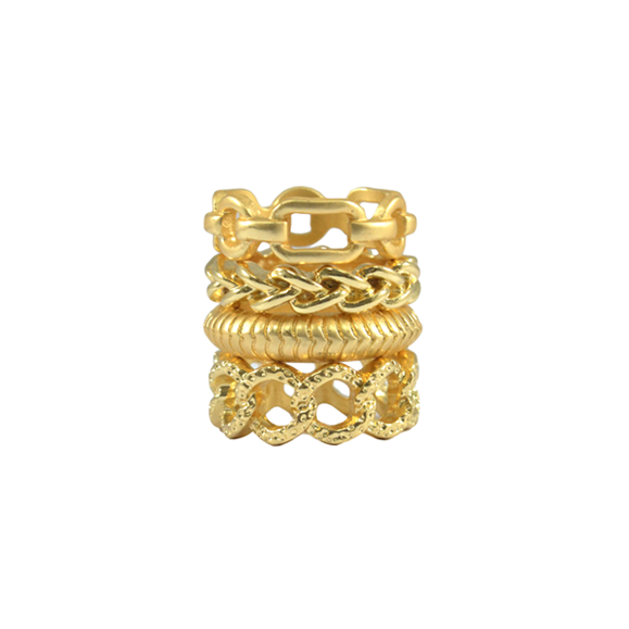 CHAIN HOOP RING SET - product image