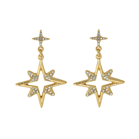 STAR,DROP,EARRINGS