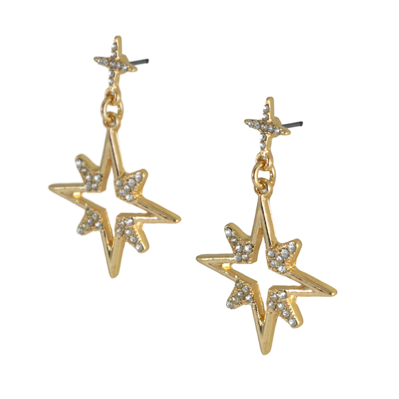 STAR DROP EARRINGS - product image