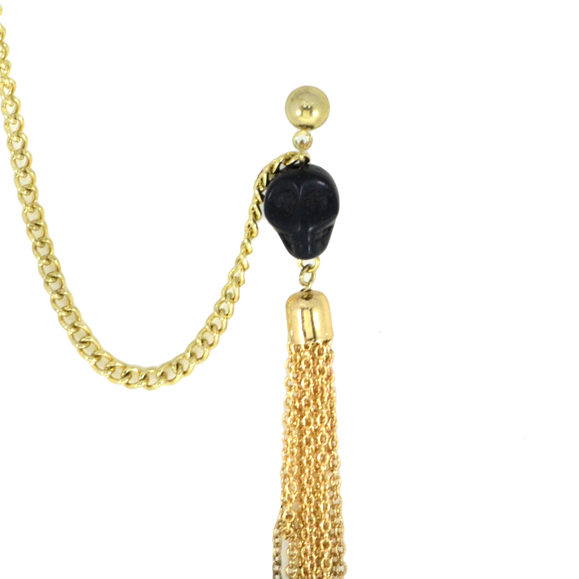 TASSEL CHAIN EARRING CUFF - product image