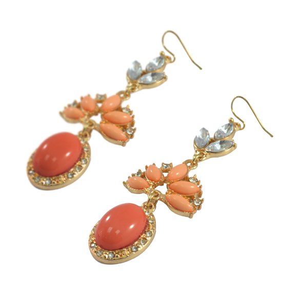 CRYSTAL DECOR DROP EARRINGS - product image
