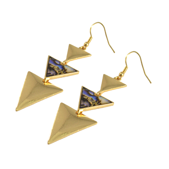 TRIPLE TRIANGLE EARRINGS - product image