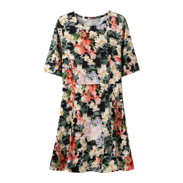 FLORAL MID SLEEVE DRESS - product image