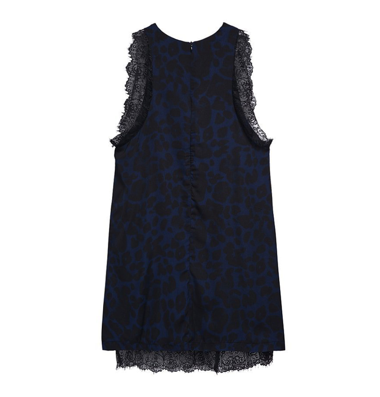 LEOPARD PRINT LACE DRESS - product image