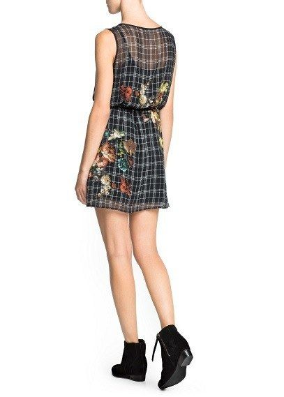 CHECK FLORAL DRESS - product image