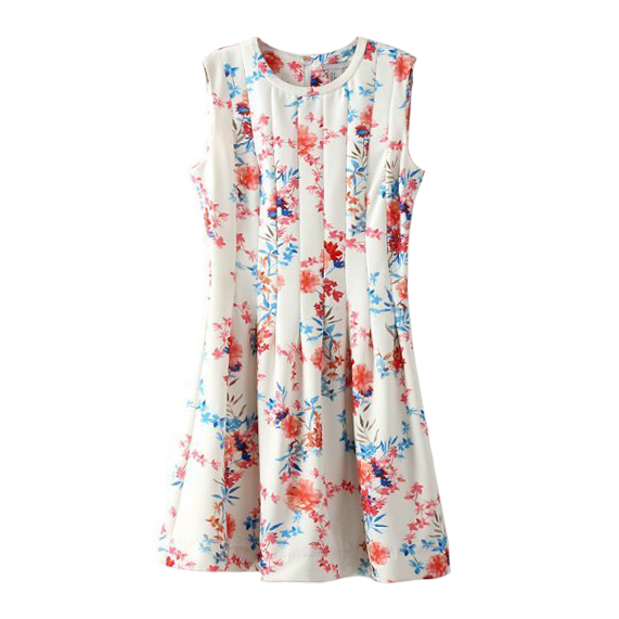 FLORAL PLEATED DRESS - product image