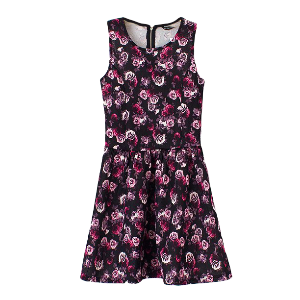 SKATER FLORAL DRESS - product image