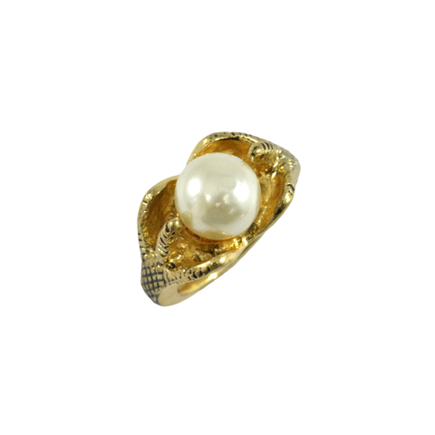 CLAW,WITH,PEARL,RING,claw ring, bird feet ring, pearl ring