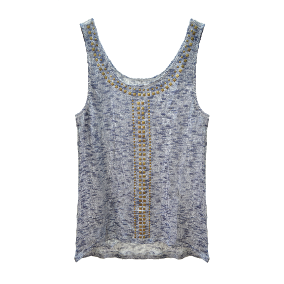 STUDDED VEST - product image