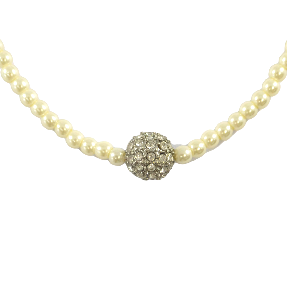 PEARL WITH CRYSTAL BALL BRACELET - product image