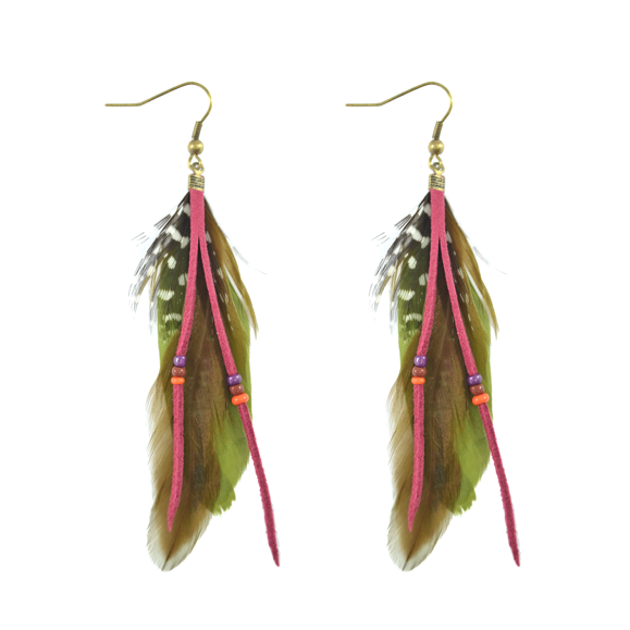 FEATHER EARRINGS - product image