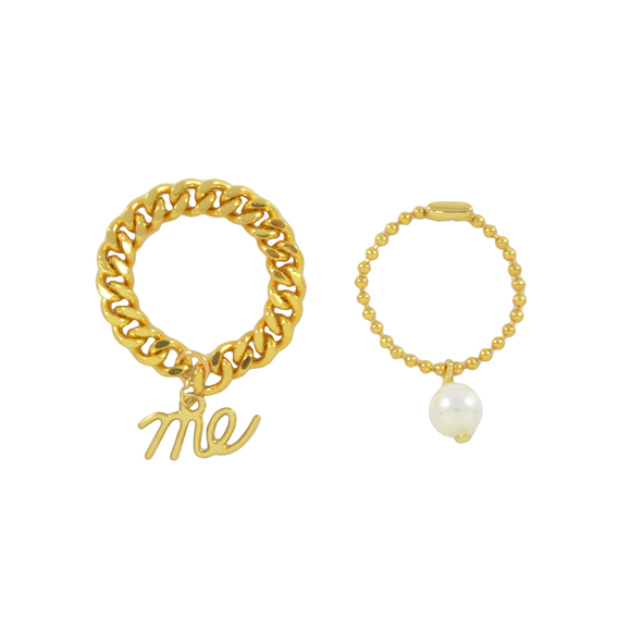 ME PEARL CHAIN RING - product image