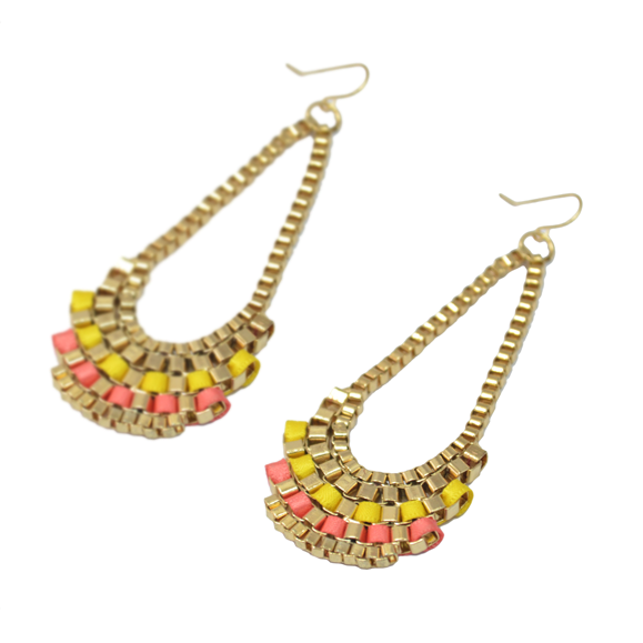 LINK WITH RIBB0N EARRINGS - product image