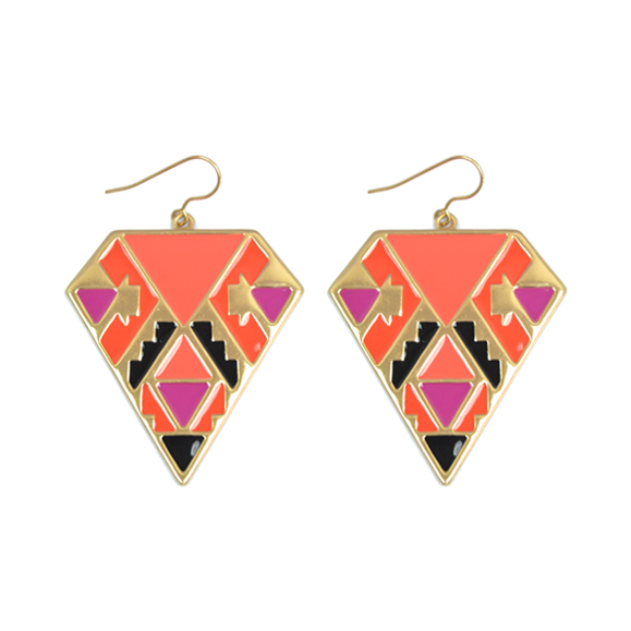 COLOURFUL AZTEC EARRINGS - product image