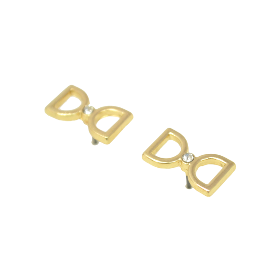 CLEAR CUT BOW EARRINGS - product image