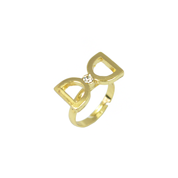 CLEAR CUT BOW RING - product image