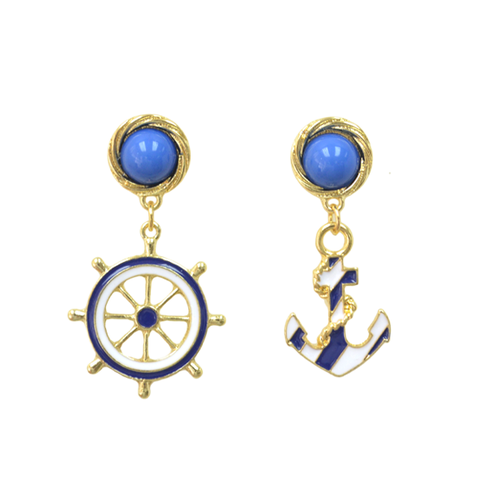 ANCHOR,EARRINGS,sailor earrings, boat earrings, summer earrings