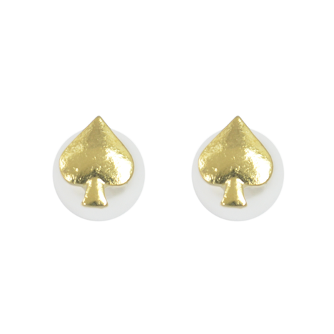 SPADES,WITH,PEARL,EARRINGS,spades earrings, pearl earrings, pearl ear studs