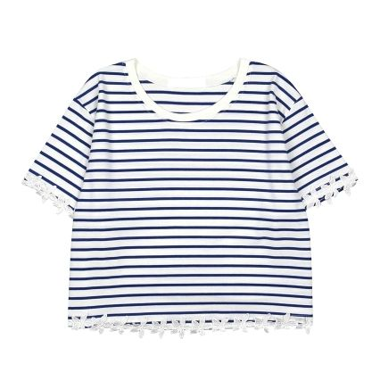 STRIPED CROP TEE - product images