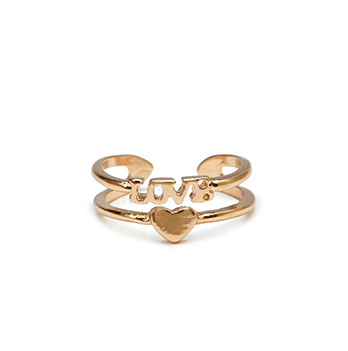 LOVE AND HEART KNUCKLE RING - product image