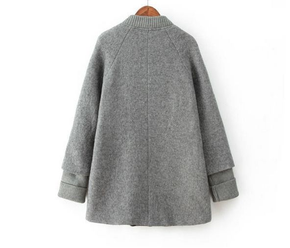 SPLICE SLEEVE KNIT COLLAR CAPE - product image