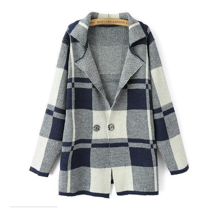 THIN CHECK COAT - product image