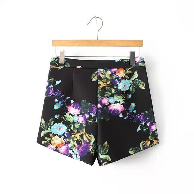 FLORAL HIGH WAIST SHORTS - product image