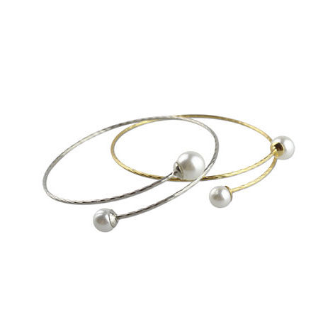 DOUBLE PEARL BANGLE - product image